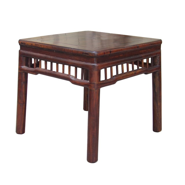 Chinese Handmade Square Side Table - Image 3 of 5