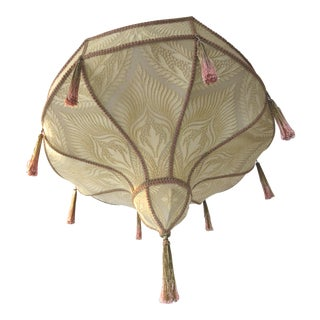 Fortuny Style Art Deco Fabric Chandelier For Sale