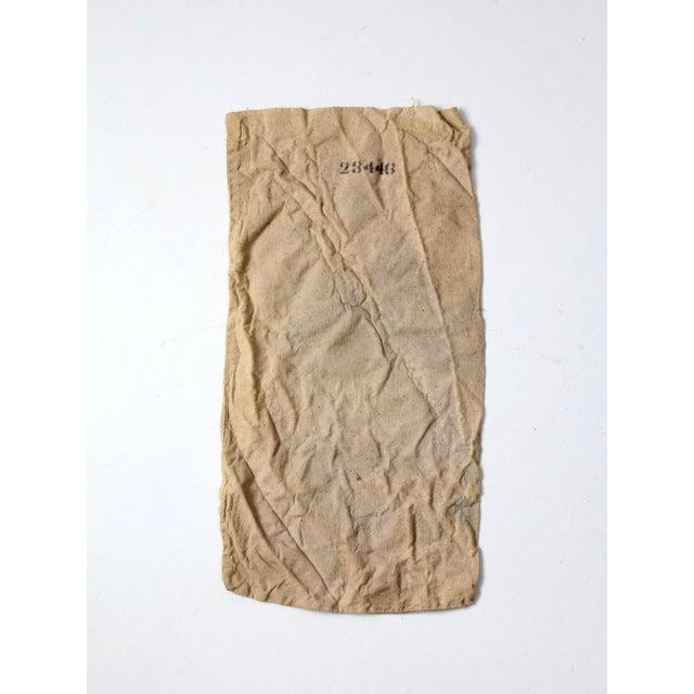 Cottage Vintage Seed Sack Bag For Sale - Image 3 of 6