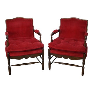 French Country Fauteuils Arm Chairs - A Pair For Sale