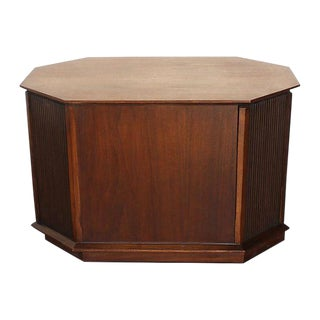 Walnut Octagonal Storage Coffee Table or End Table