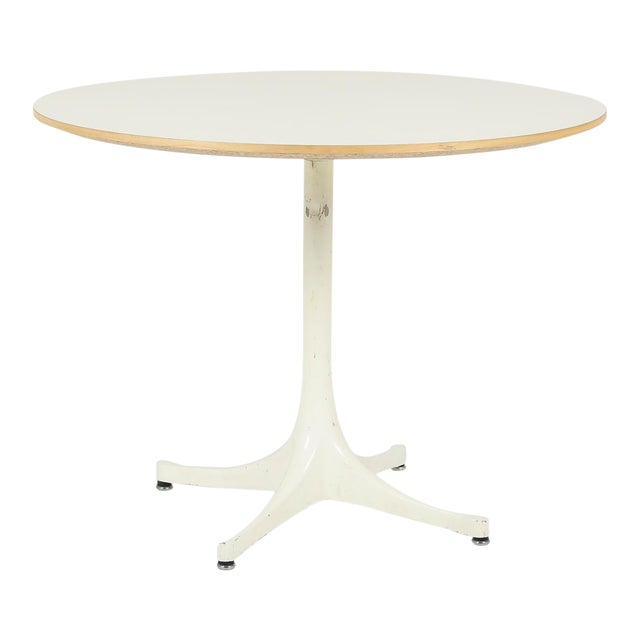 George Nelson Herman Miller Pedestal Side Table For Sale