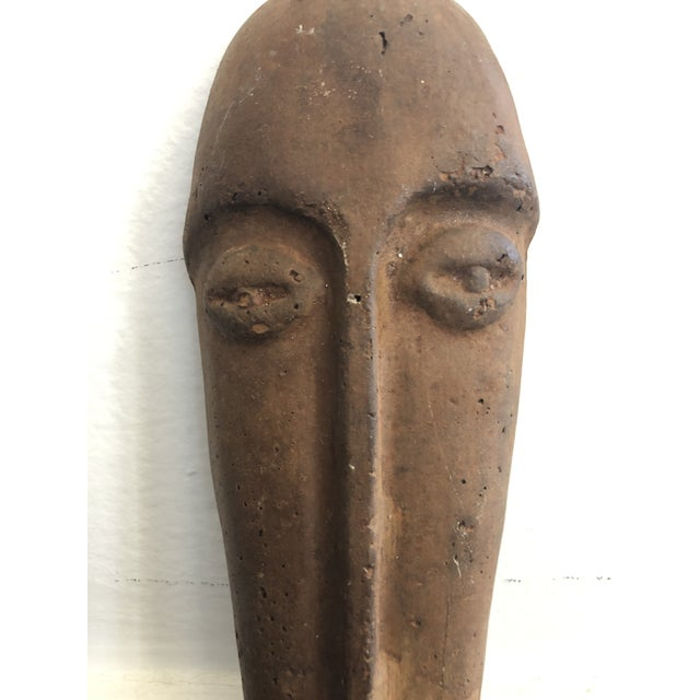 Primitive Face Sculptural Wall Object For Sale - Image 4 of 8