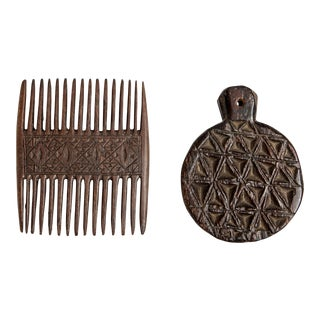 African Comb and Ornament - 2 Pc. Set For Sale