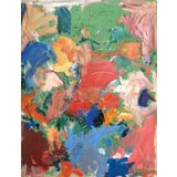Image of Abstract Oil Painting by Sean Kratzert 'Green Bird' For Sale