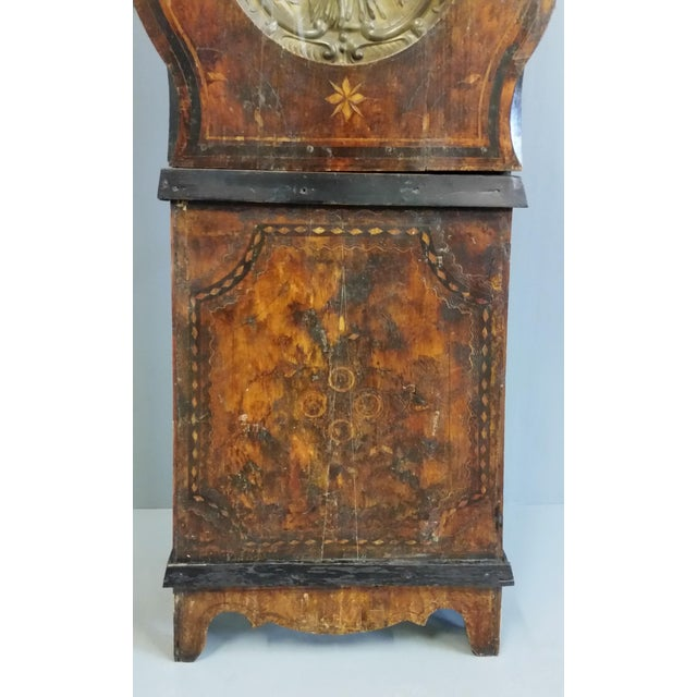 Metal Antique 19th Century French Grandfather Clock (Morbier) For Sale - Image 7 of 13