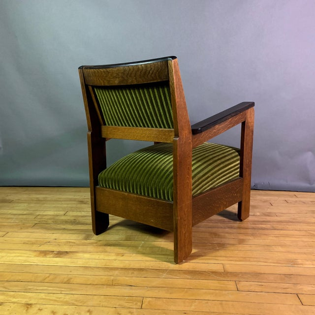 Pair 1940s Wenge Wood Armchairs, Corduroy & Rosewood For Sale - Image 9 of 11