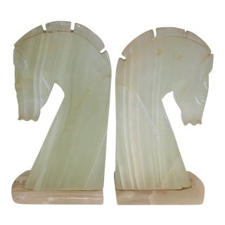 Mid Century Modern Horse Head Bookends - a Pair For Sale