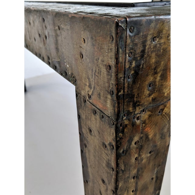 1960s Mid-Century Modern Paul Evans Brutalist Mixed Metals Patchwork Coffee Table For Sale - Image 10 of 11