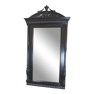Antique Italian Ebonized Wall Mirror For Sale