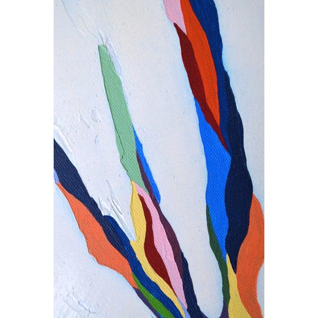 """Pastel Beams"" Abstract Painting - Image 3 of 3"
