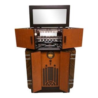 Art Deco Philco Radiobar Cocktail Bar Cabinet For Sale