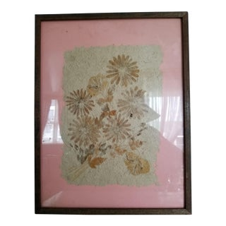 Final Price. Mid-Century Framed Dried Flowers For Sale