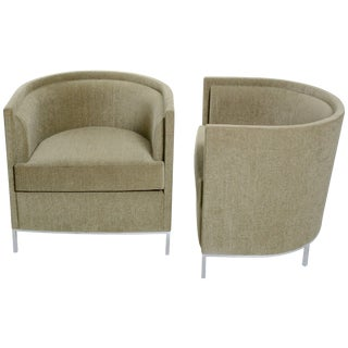 Pair of California Modern Club Chairs by Martin Brattrud For Sale