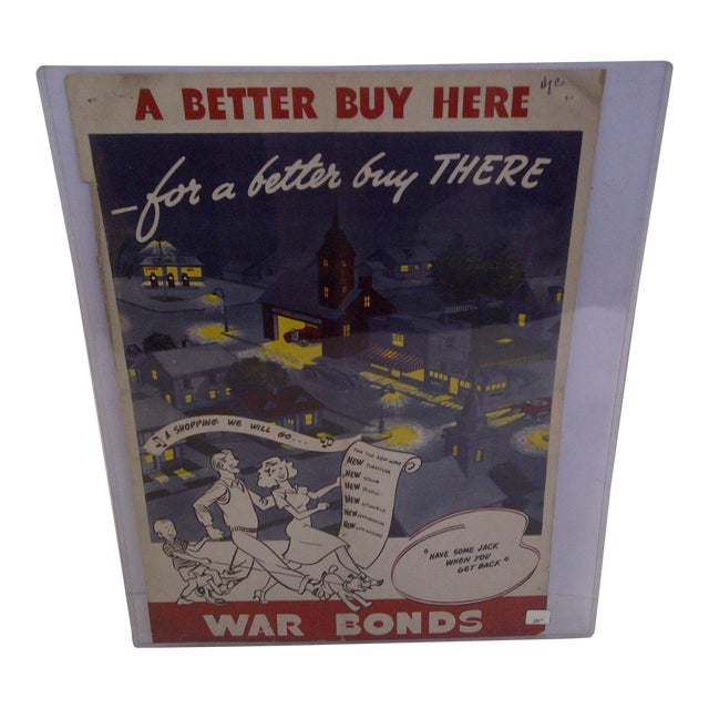 "Buy Here: Vintage WWII War Bonds ""A Better Buy Here"" Poster"