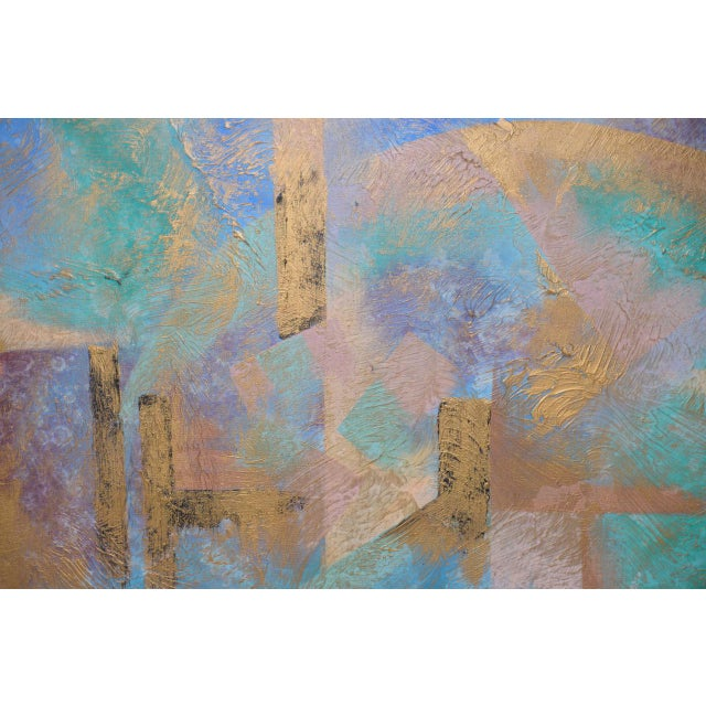 Lee Reynolds Vanguard Studios Mid Century Abstract Oil Painting c.1960s Fabulous sixties abstract painting created at...