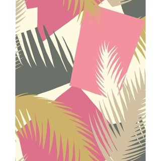 Cole & Son Deco Palm Wallpaper Roll - Pink For Sale