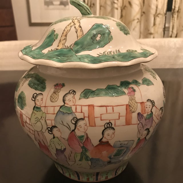 Ceramic Mid 19th Century Chinese Famillie Ginger Jar For Sale - Image 7 of 8