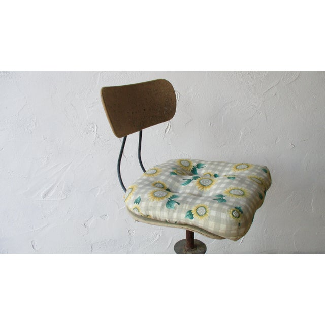 Vintage Toledo Stool With Cushion For Sale - Image 9 of 11