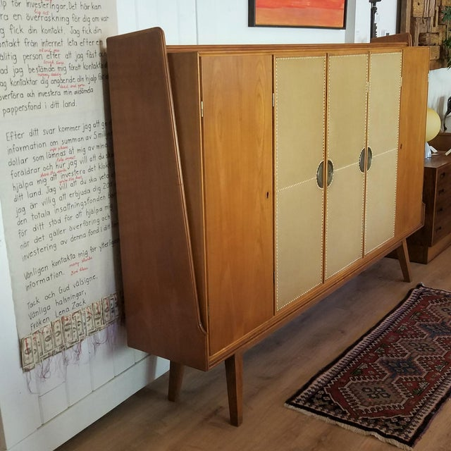 A stunning Mid-Century Modern extra large credenza made in Italy. This five-door cabinet could be utilized in numerous...