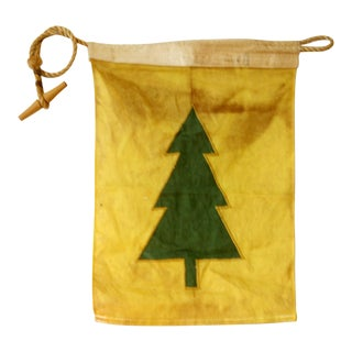Vintage Yellow Tree Flag For Sale