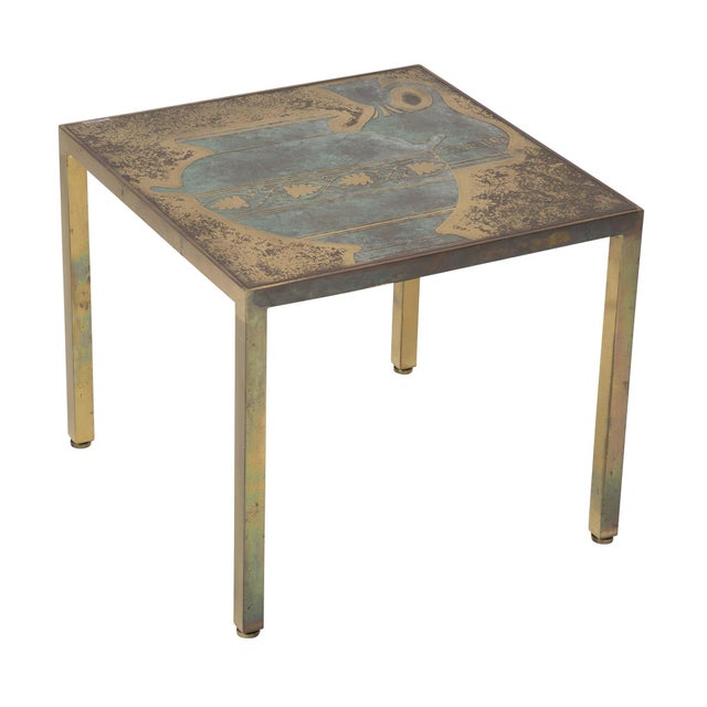 Metal Bronze Harvey Probber Cocktail Table For Sale - Image 7 of 8