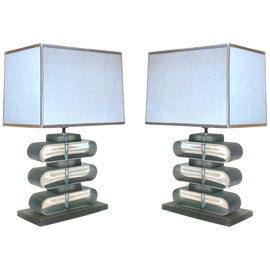 Image of Murano Glass Table Lamps