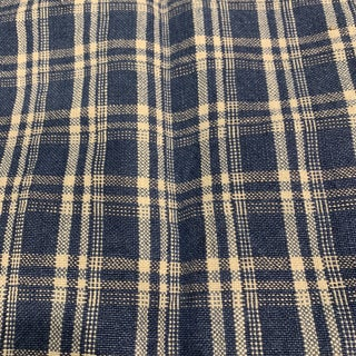 Adalaide Check Sea Fabric by Ralph Lauren For Sale