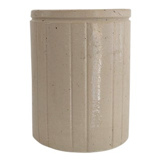 1910s Minimliast Linen Ceramic Crock For Sale