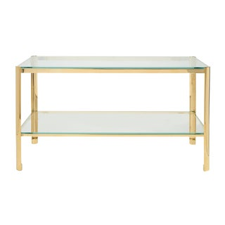 Jacques Quinet for Maison Malabert Bronze & Glass Cocktail Table For Sale