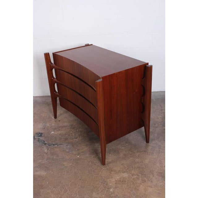 Walnut Curved Front Dresser Designed by William Hinn - Image 5 of 10