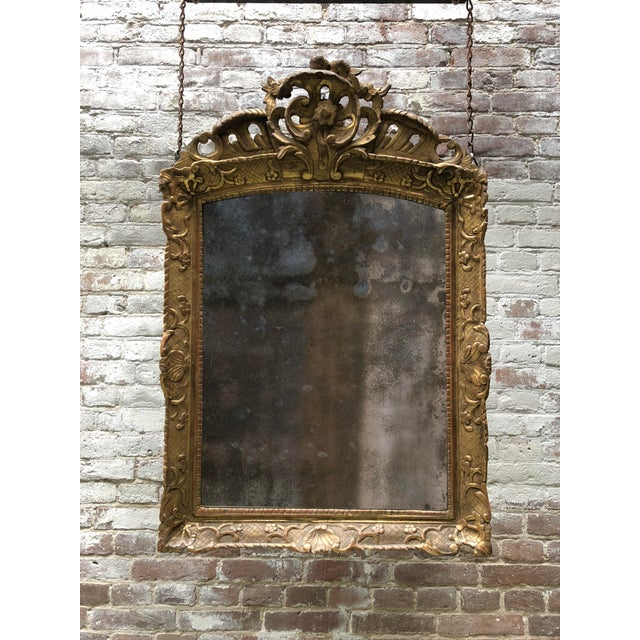 18th Century Mirror, Régence Giltwood For Sale - Image 12 of 12