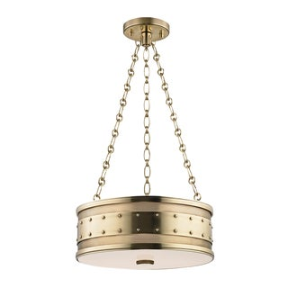 Gaines 3 Light Pendant - Aged Brass For Sale