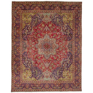 "Tabriz Persian Rug, 9'10"" x 12'10"" feet"