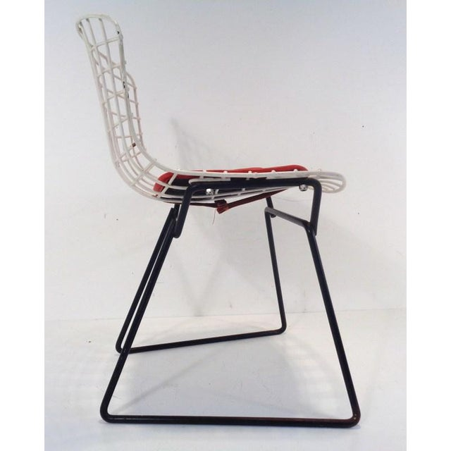 Black & White Harry Bertoia for Knoll Small Children's Chair For Sale In Nashville - Image 6 of 12