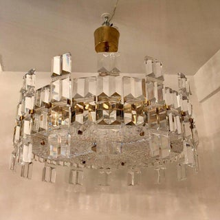 1950s Orrefors Swedish Mid-Century Crystal Chandelier Preview