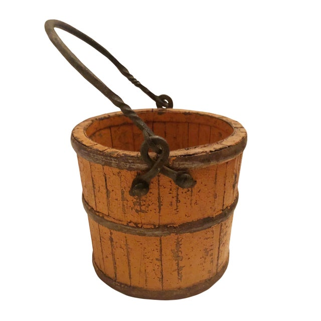 French 19th Century French Wood and Iron Pail For Sale - Image 3 of 7