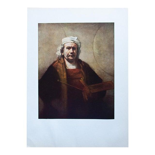 """1950s Rembrandt, """"Self-Portrait"""" Vintage Photogravure For Sale"""