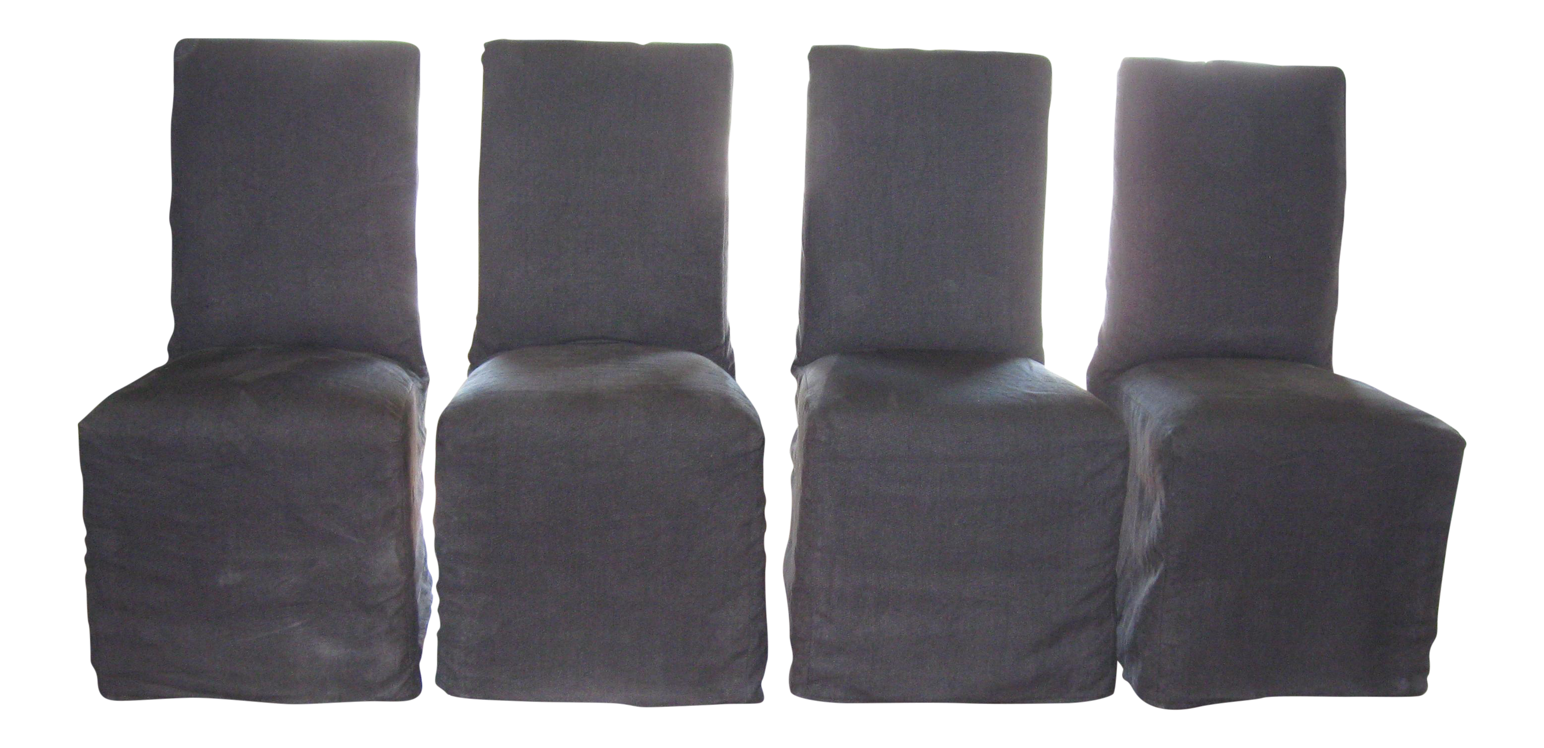 Parsons Linen Slipcovered Dining Chairs - S/4