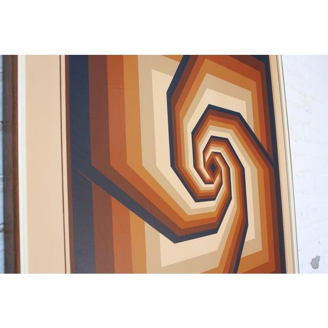 Op Art Oil on Canvas Geometric Op Art by Letterman For Sale - Image 3 of 13