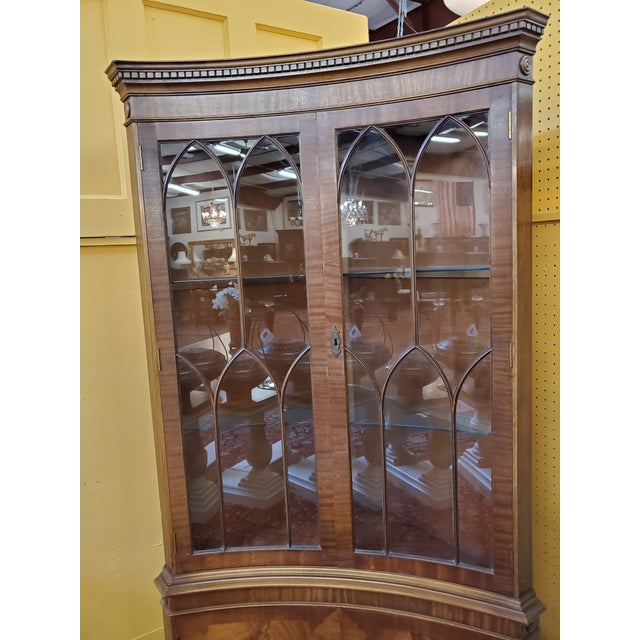 Mid 20th Century Vintage Mahogany Corner Cabinet For Sale - Image 5 of 13