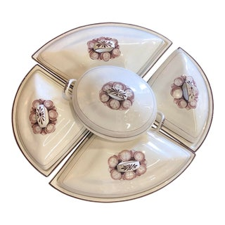 Early 19th Century Davenport Creamware Supper Set / Hors d'Oeuvres Set For Sale