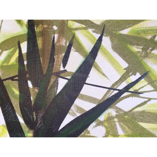 Large Framed Wing Lee Mid-Century Asian Bamboo Painting For Sale - Image 5 of 7