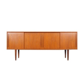 Danish Modern Teak Credenza by h.p. Hansen For Sale