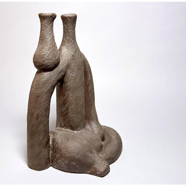 """""""Woman With Vase"""" Ceramic Sculpture by Salvatore Fiume For Sale - Image 4 of 9"""