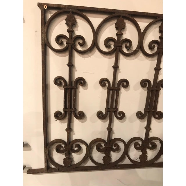Metal Late 19th Century French Antique Gate For Sale - Image 7 of 8