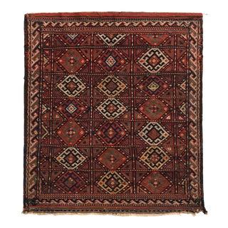 Antique Soumak Kilim Red Russian Tribal Flat Weave For Sale