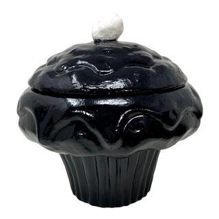 Oversized Ceramic Black & White Cupcake Pop Art For Sale