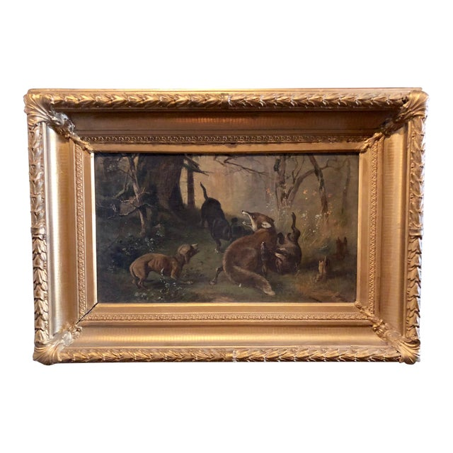 Late 19th Century Antique Karl (Carl) Reichert Victorian Oil Painting For Sale