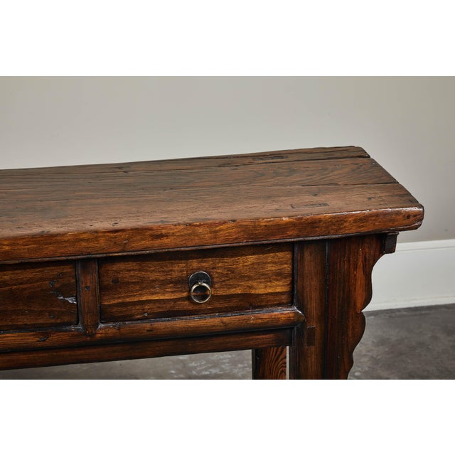 18th C. Chinese Ming Style Elm Sideboard For Sale - Image 9 of 11